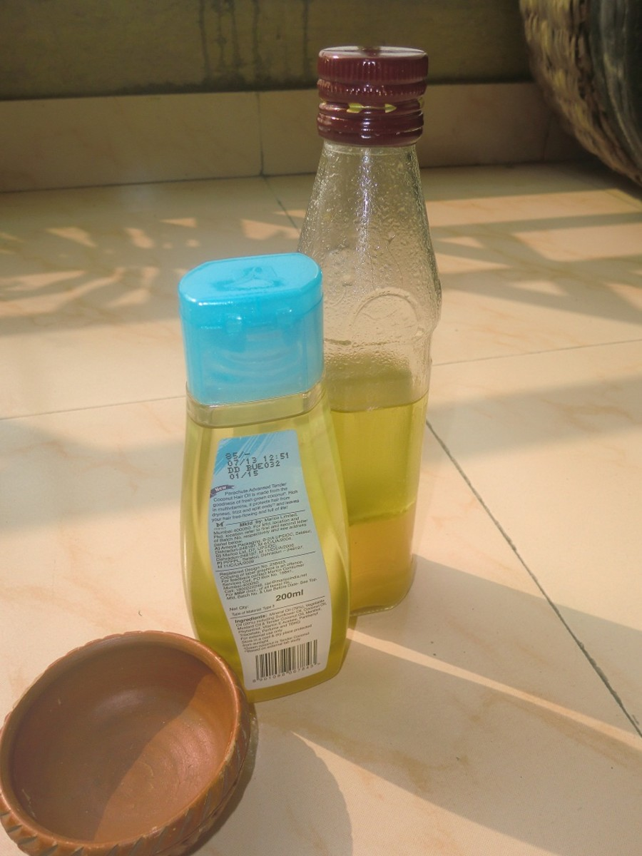 The oil can be stored in clean bottles and used till they are finished. Clouding may occur at the bottom of the bottles but that will not spoil the quality of the hair-oil.
