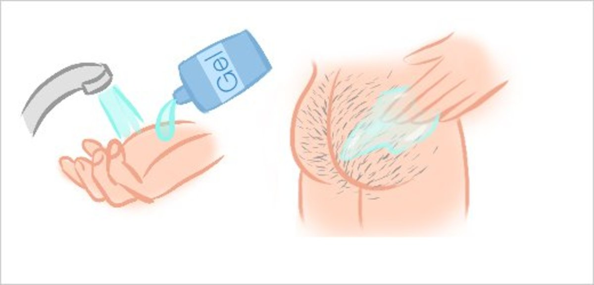 Step 4: Apply Shaving Gel or Cream to Your Buttocks