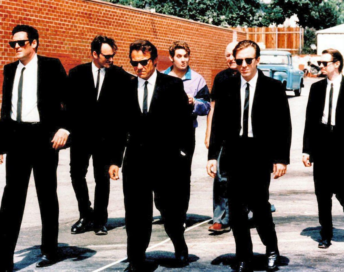 Reservoir Dogs: Rocking the vintage skinny tie look