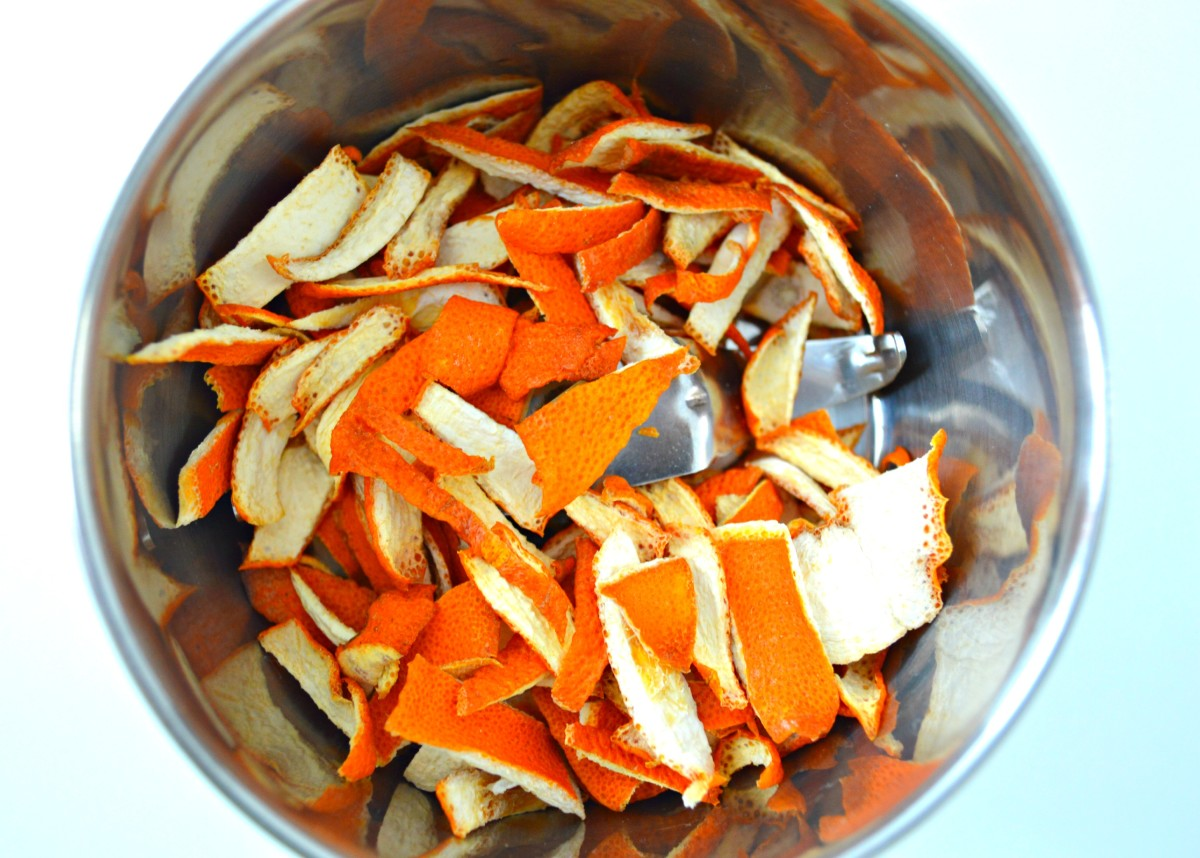 Time to grind up the peels, baby! Ooh, I'm gonna love this!