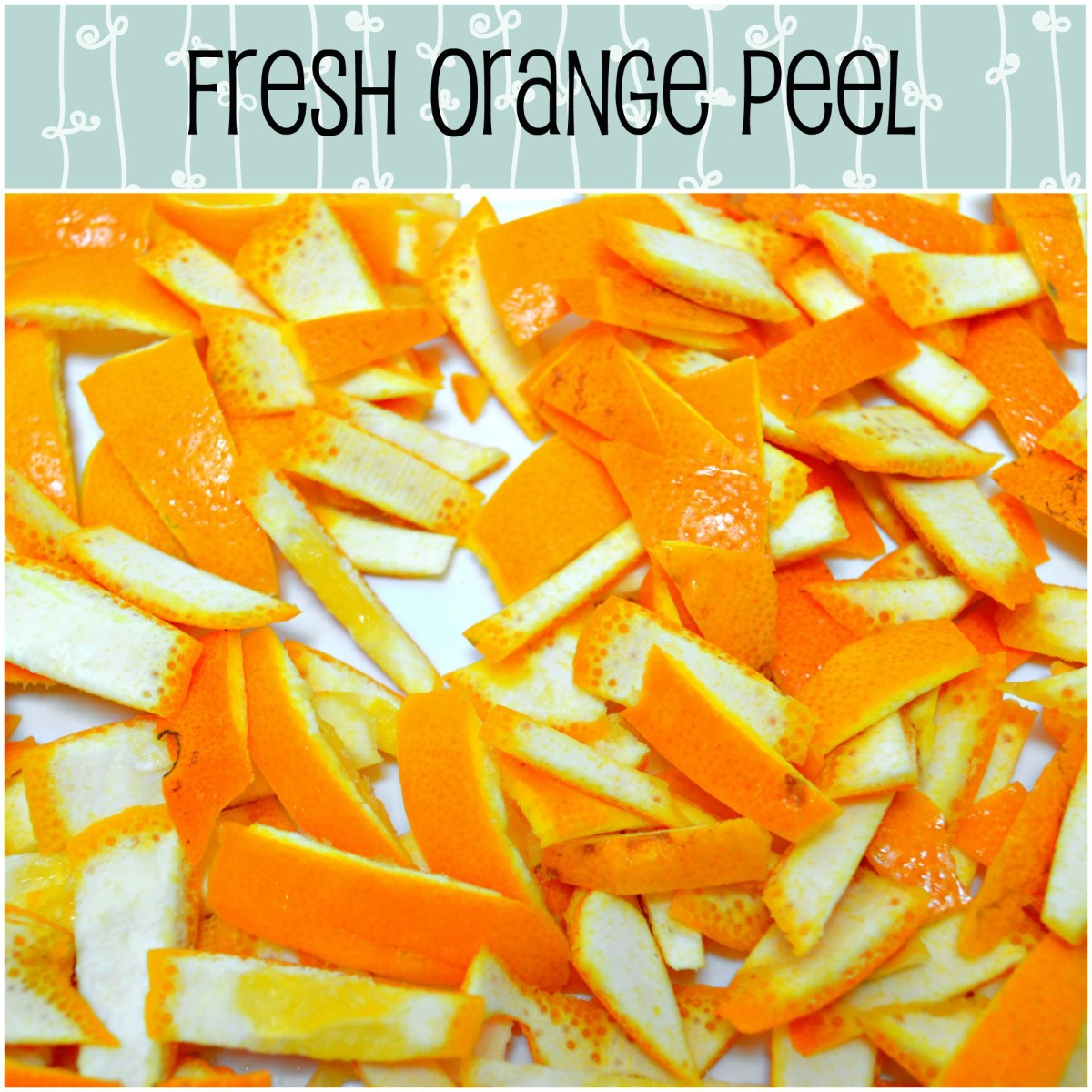 Look at how glossy and fresh the orange peels are! Mmmm...chopping them up releases all the heavenly citrusy aroma!