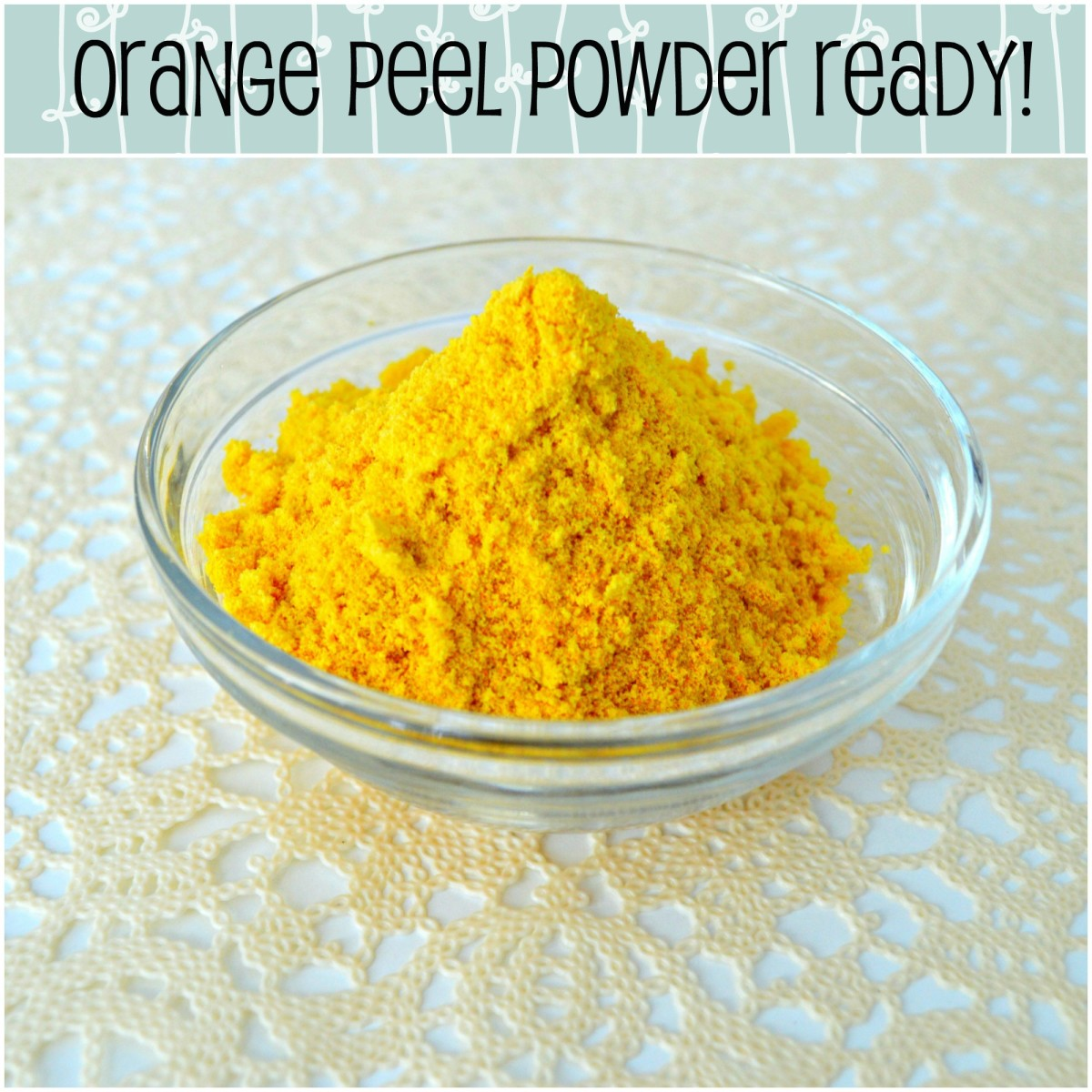 What a gorgeous colour! Store your orange peel in an airtight container. Use within 3 months.