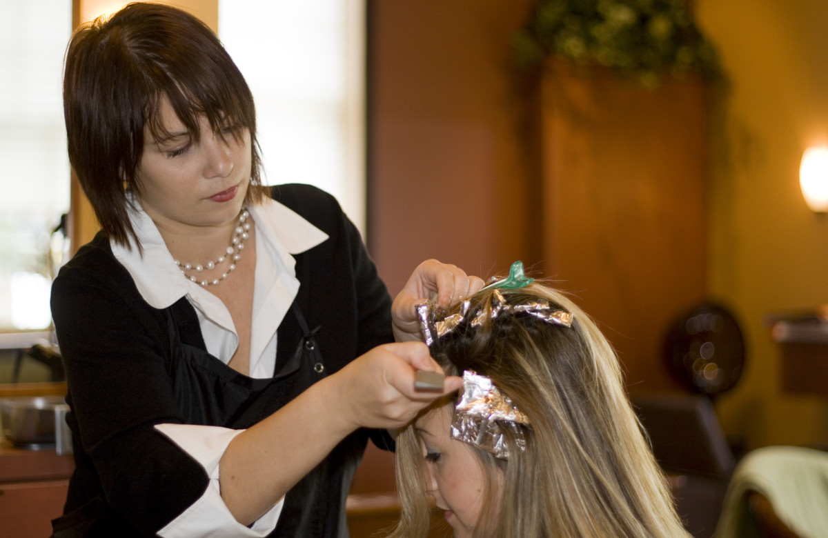 Only hairdressers can set highlights and lowlights successfully.