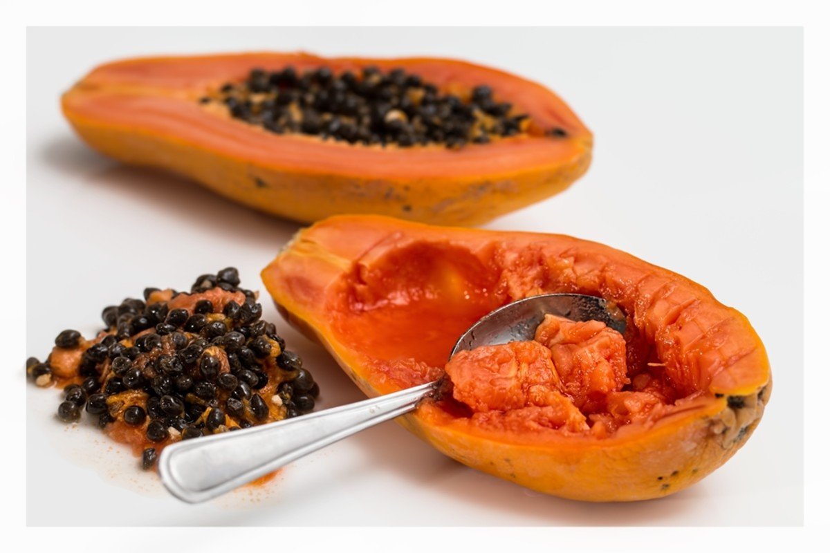 The natural enzymes in papaya can help to gently exfoliate skin.