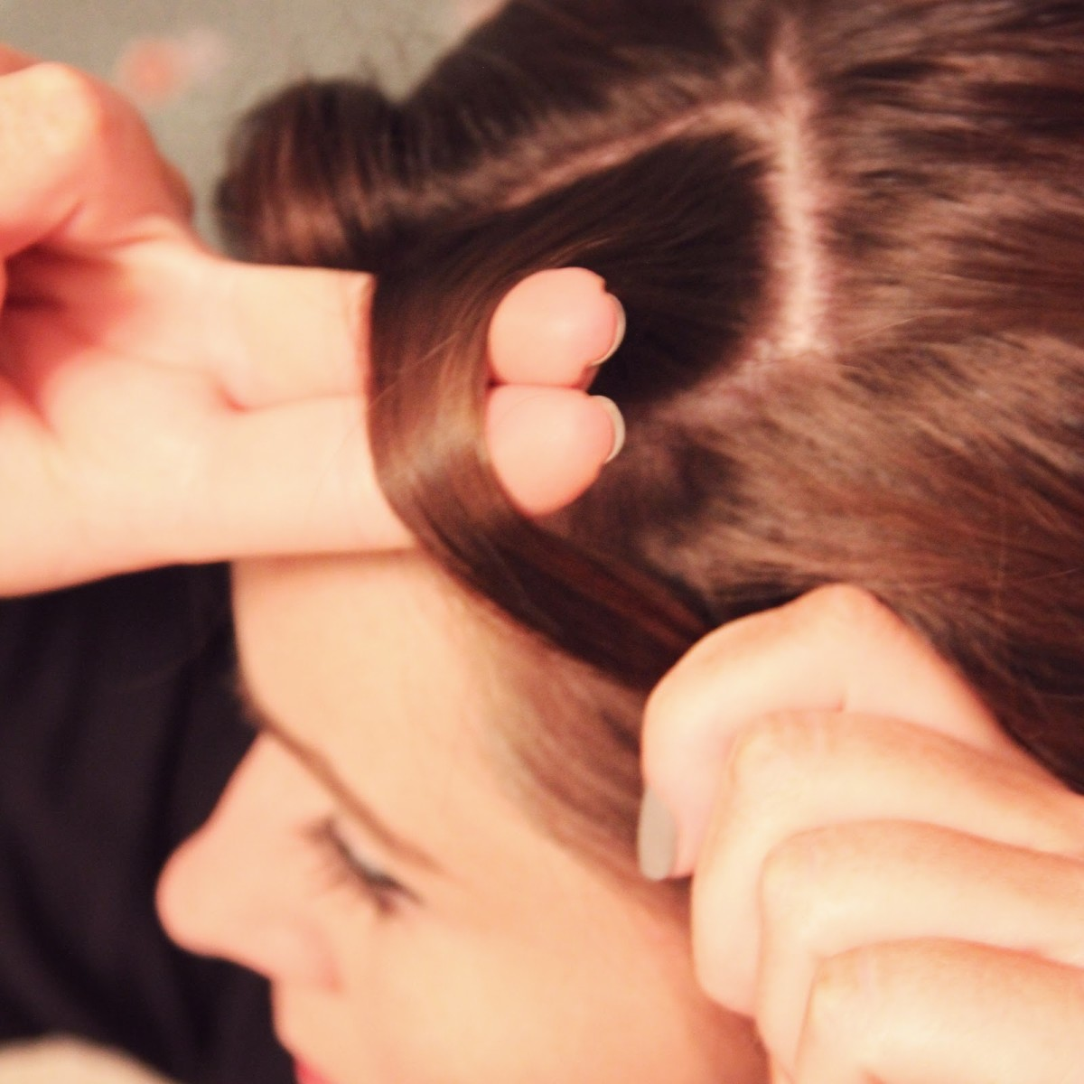 Makes sure that you begin wrapping your hair as close to your scalp as possible.