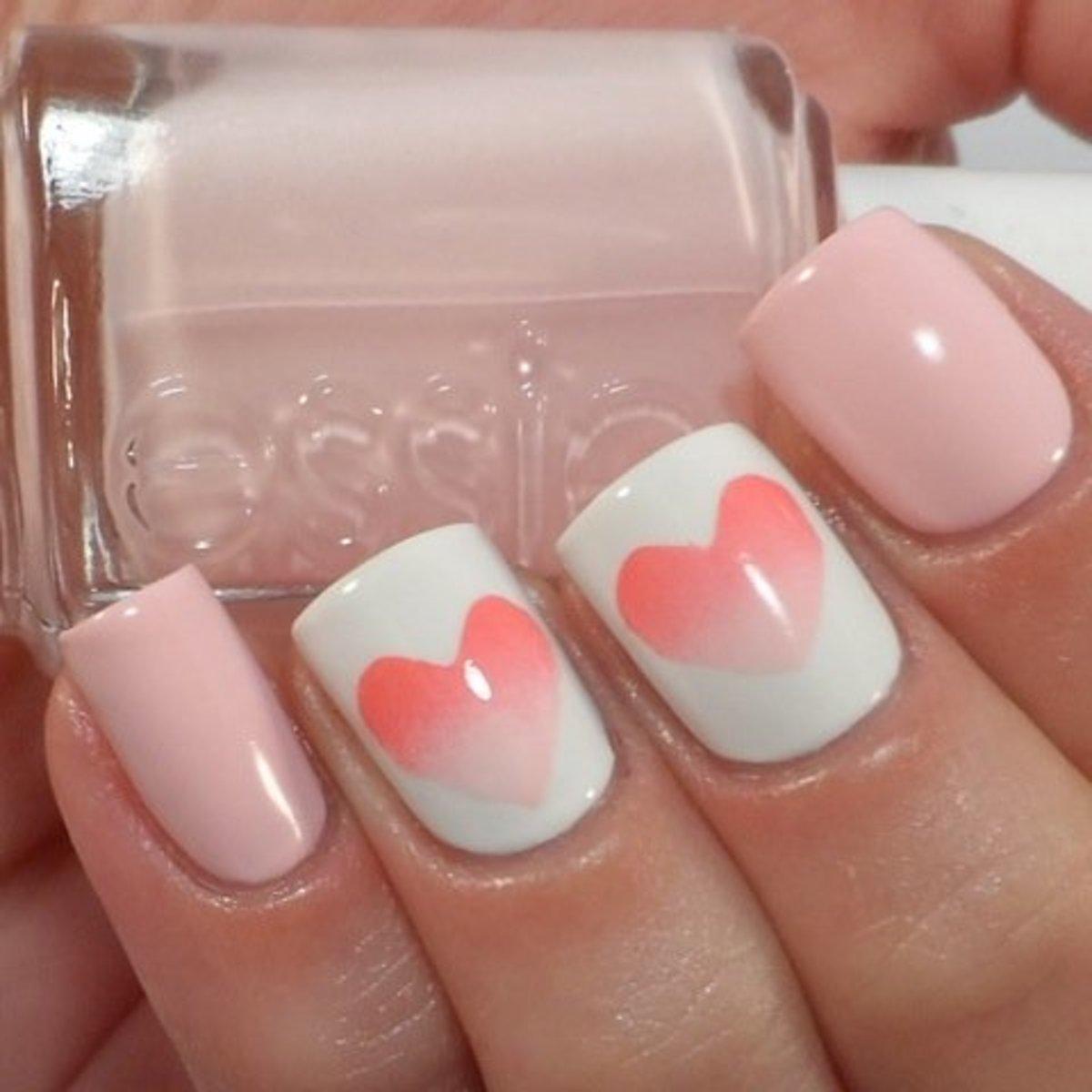 Stencil ombre hearts.