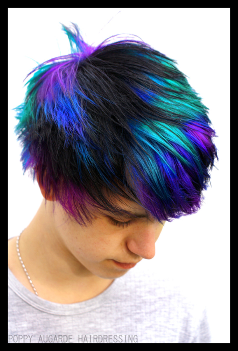 Color refresher shampoo can help maintain bright vibrant colors.