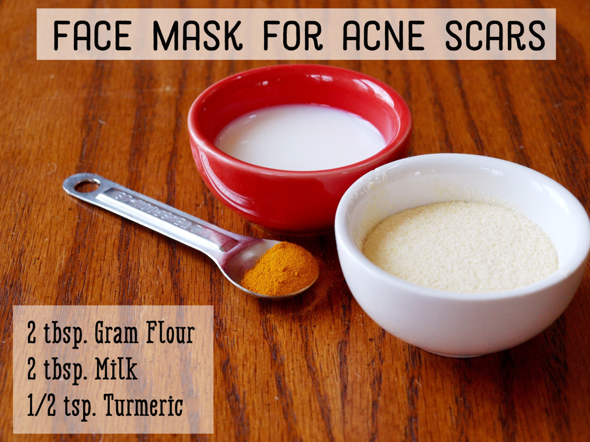 Gram flour and turmeric face mask for acne