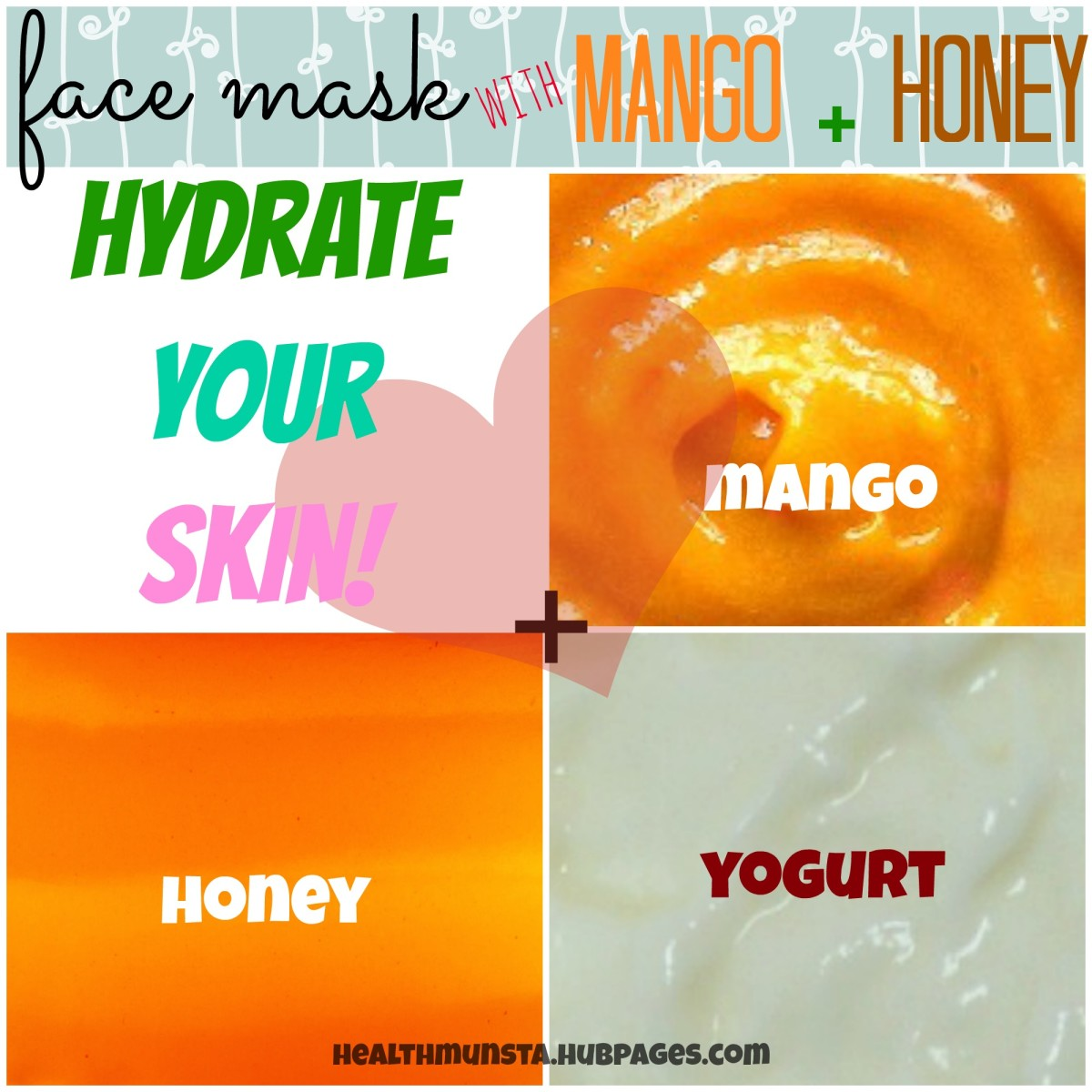 Intense therapy hydrating mango face mask with honey and yogurt! Perfect to fight acne too!