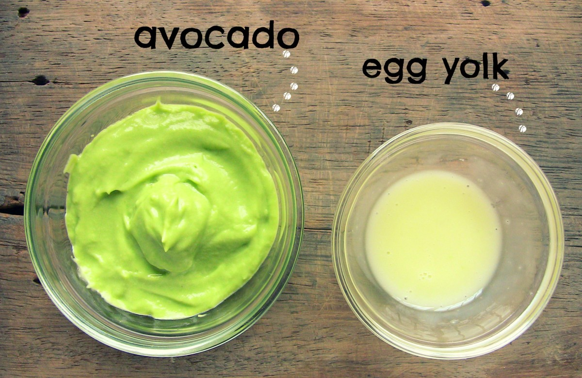 Blend avocado, whip the egg yolk, and mix the two to make your hair mask.