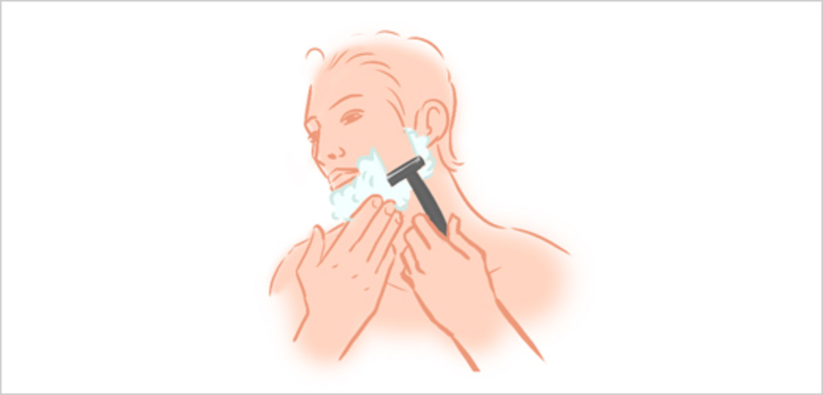 Step 5 - Begin Shaving