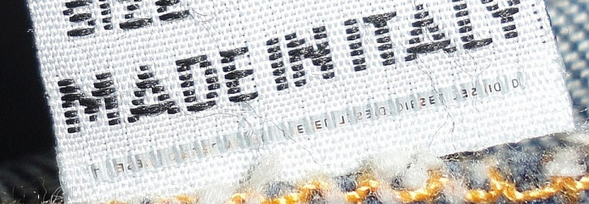 Diesel jeans employ a Micro Stitching security device showing lettering on label tag