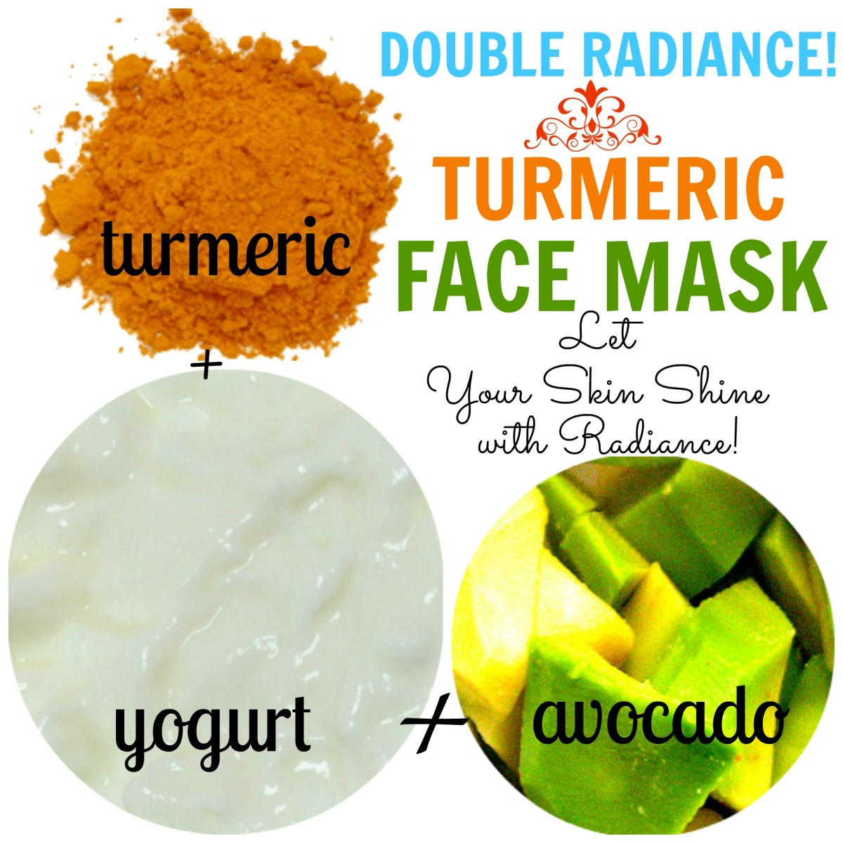 This turmeric avocado yogurt face mask will make dull skin radiant.