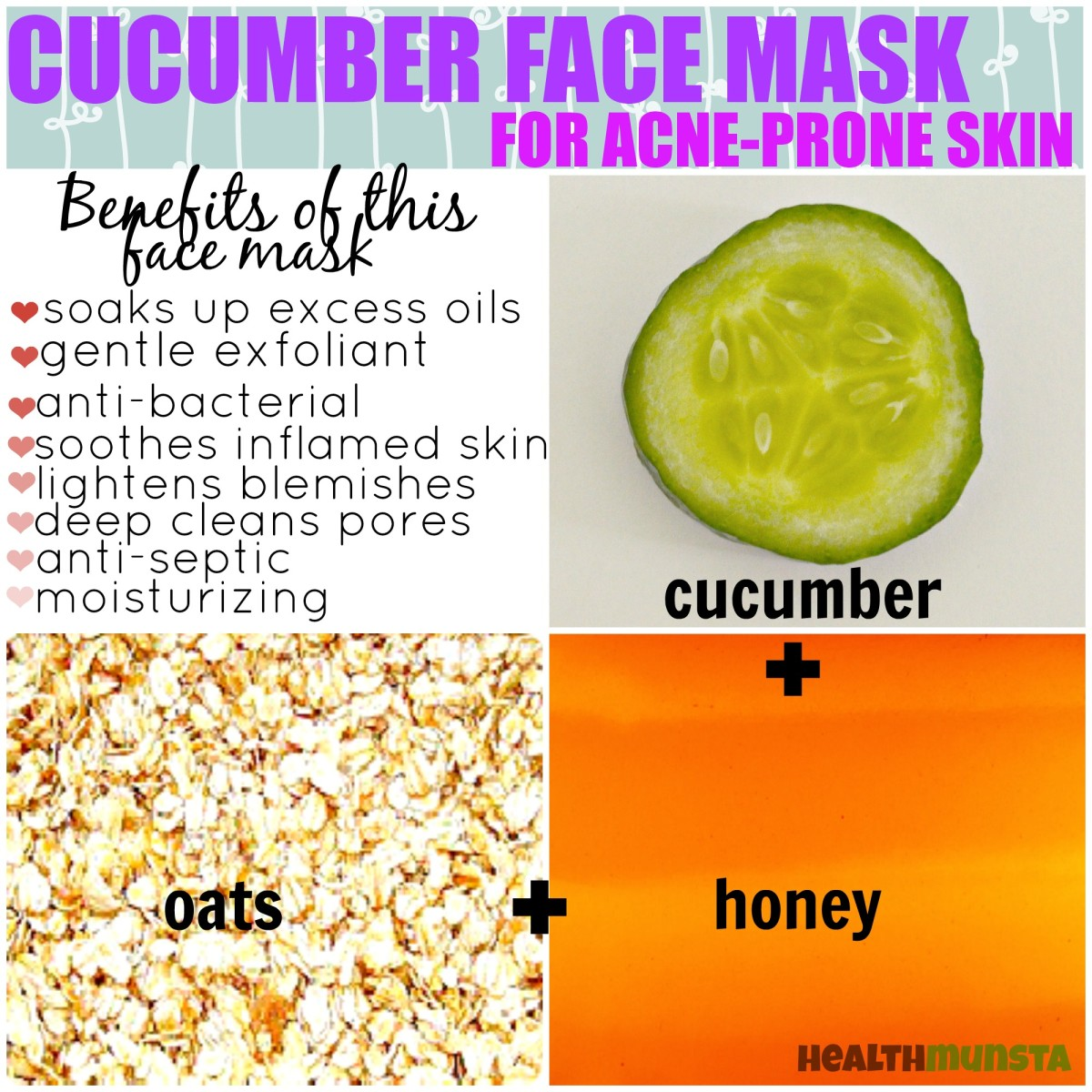 Diy Volcanic Acne And Skin Cleansing Face Mask: Refreshing Cucumber Face Mask Recipes To Nourish Your Skin