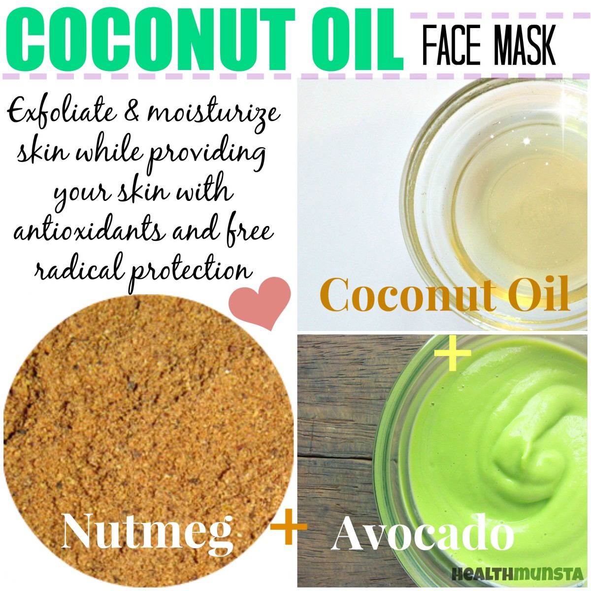 Top three coconut oil face mask recipes for healthy skin bellatory add a spicy twist to your coconut oil face mask with nutmeg the spice is solutioingenieria