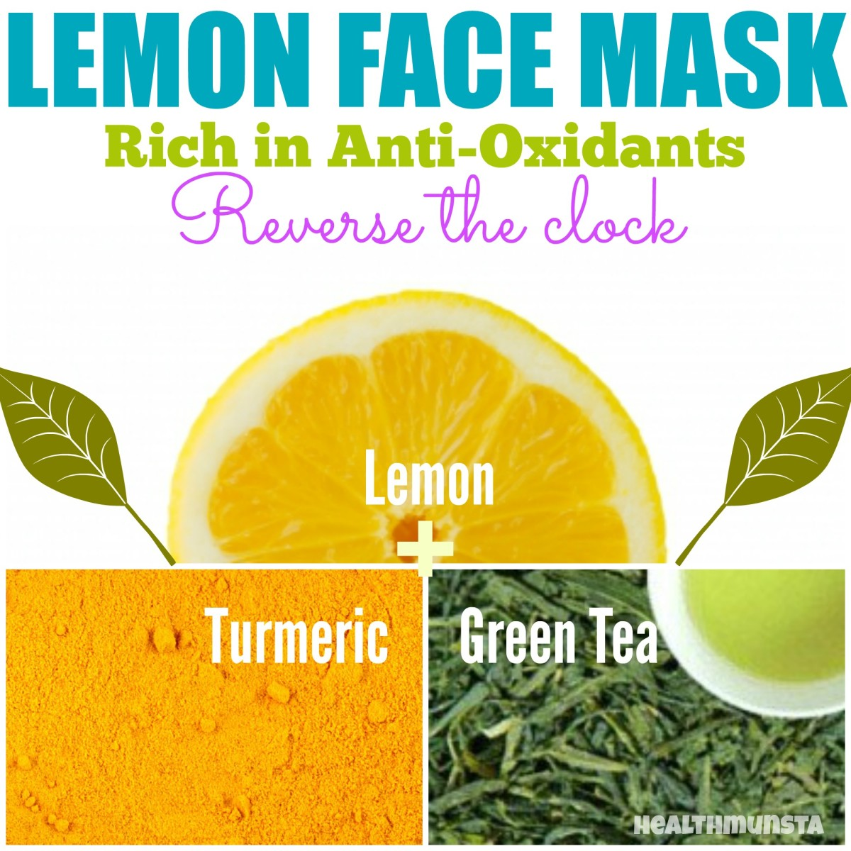 Want to keep wrinkles off bay? Try this refreshing lemon face mask diluted with green tea and a pinch of turmeric. This combination lightens skin pigmentation as well.
