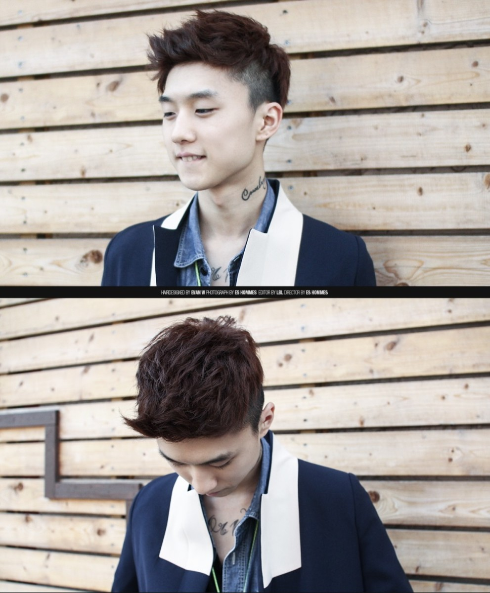 Undercut hairstyle men korean