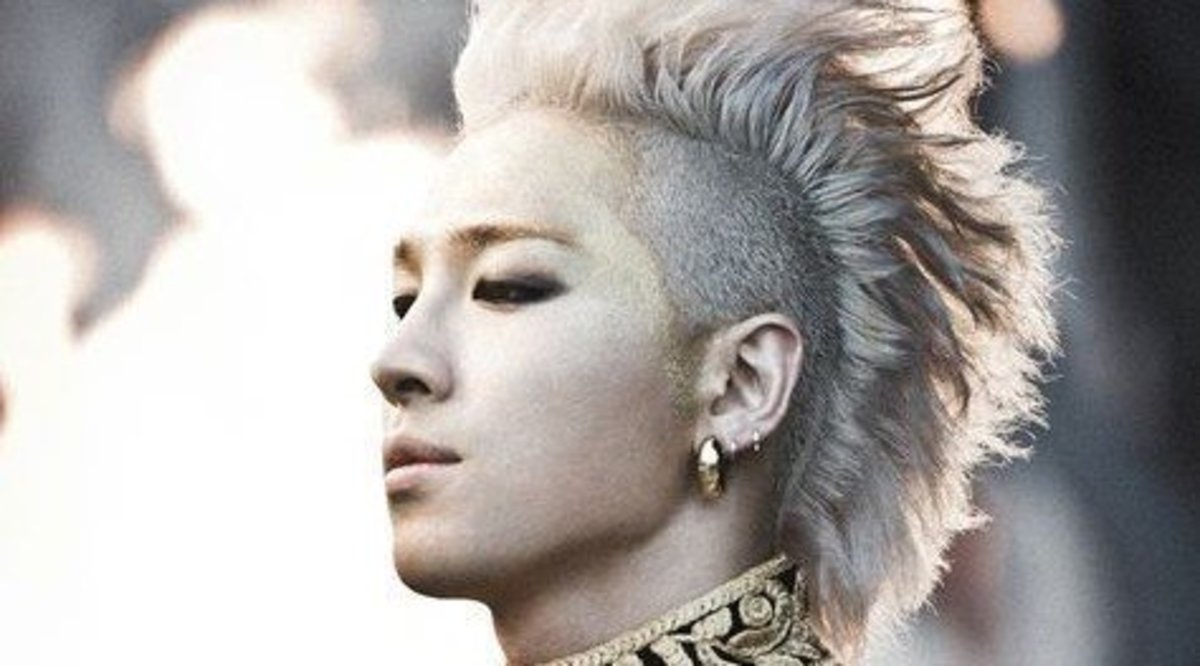 You don't have to go all Super Saiyan 3 like Taeyang here to achieve this classic style.