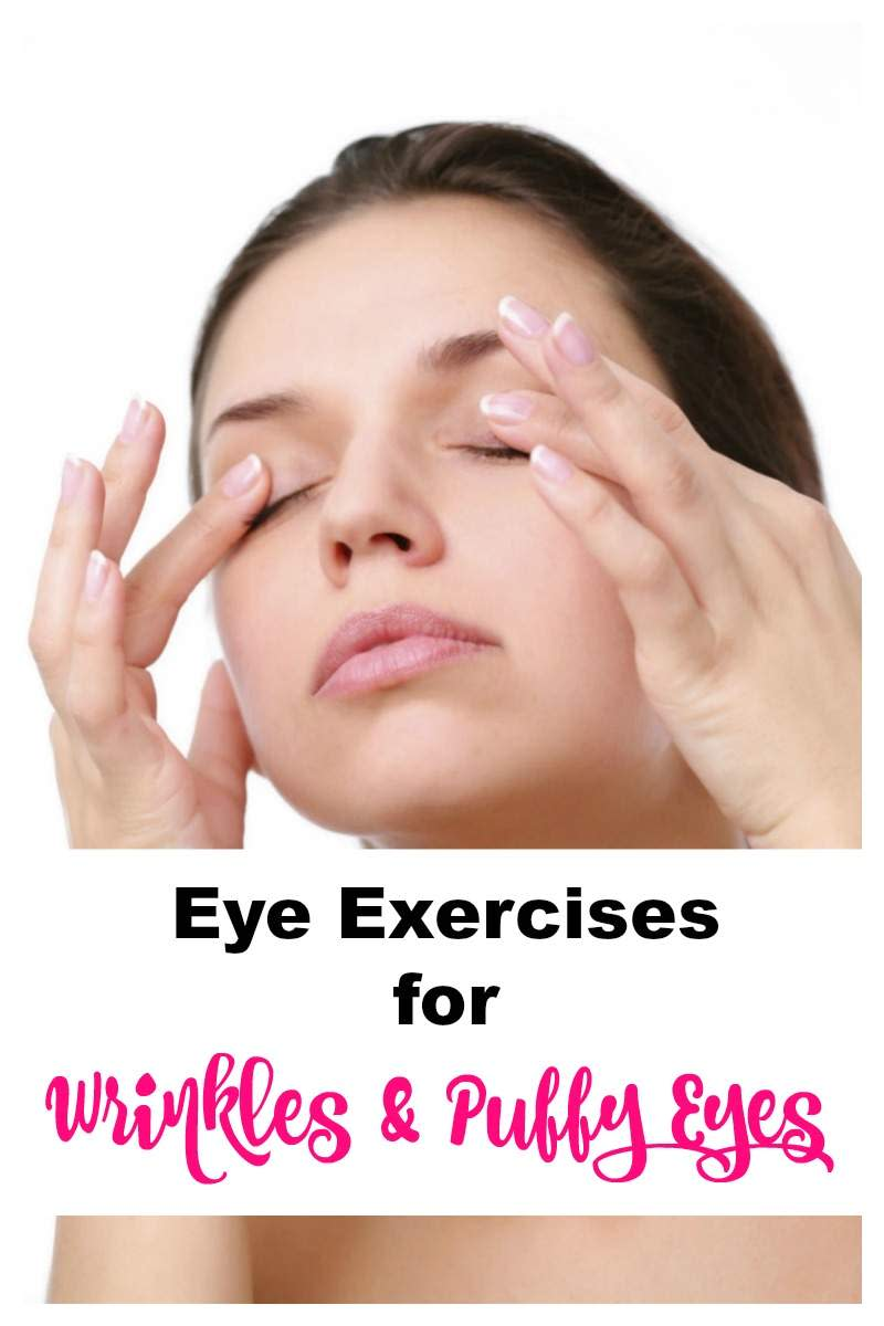 Use eye exercises to boost blood circulation and reduce under eye shadows