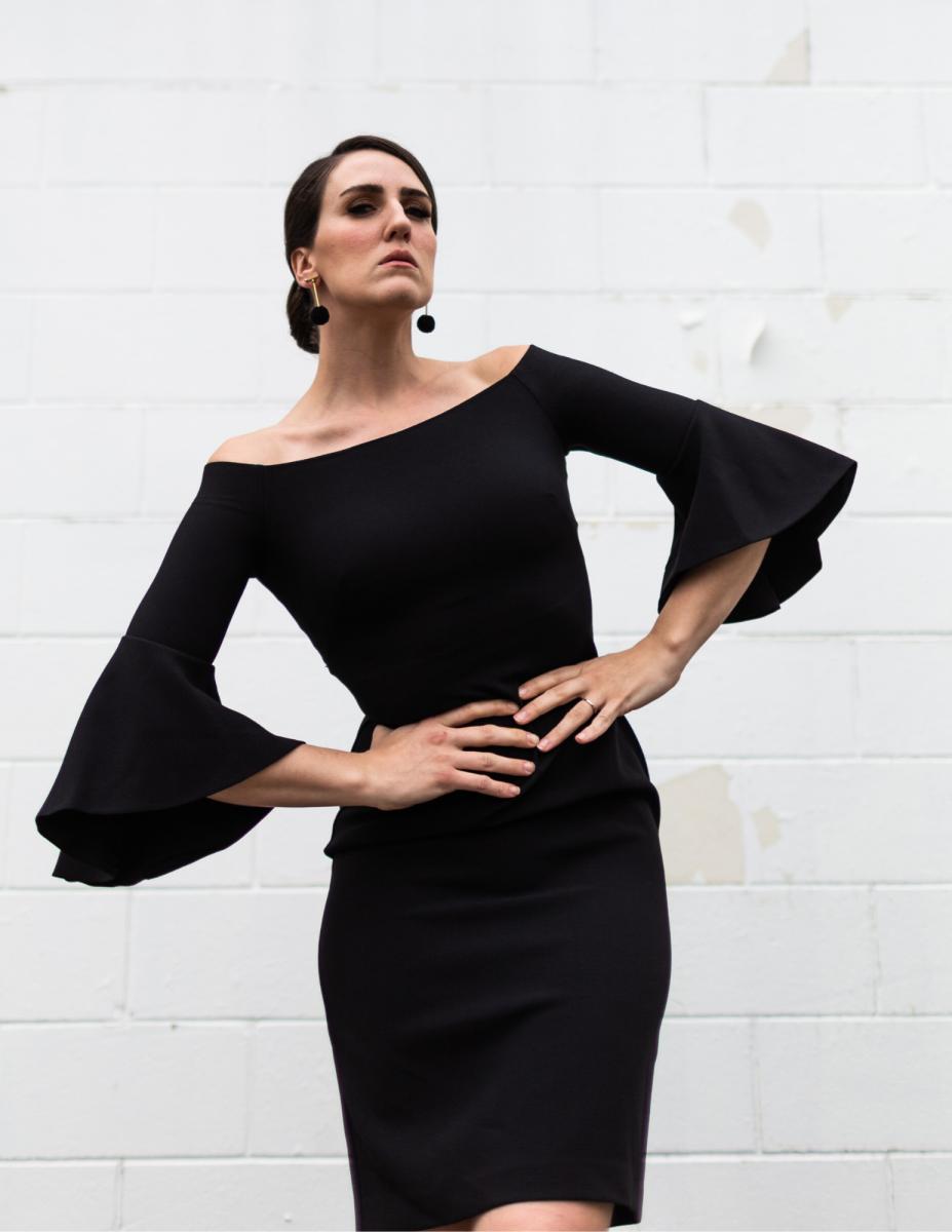 Modern little black dress.