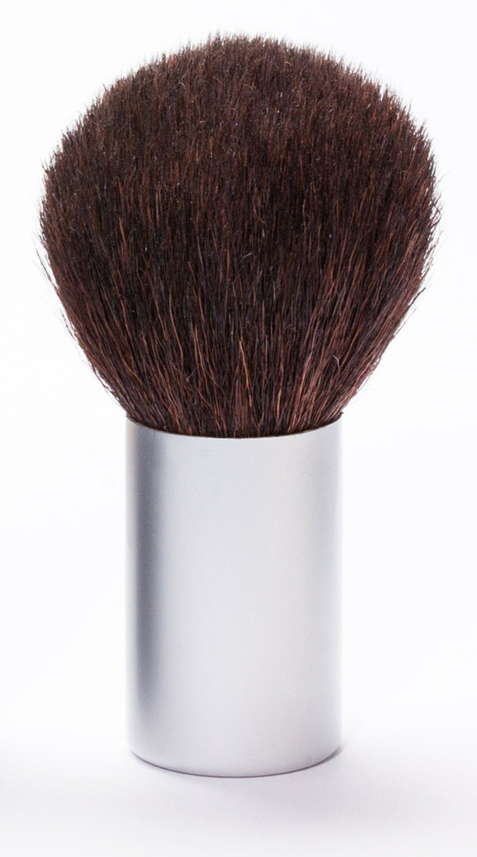 Whether your powder is pressed or loose, apply with a brush.