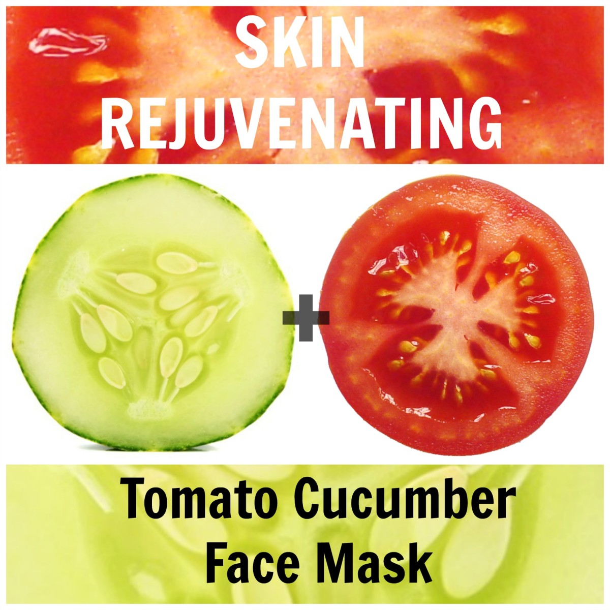 It doesn't get any more refreshing than this! Use tomato + cucumber for refreshed, rejuvenated and youthful skin.