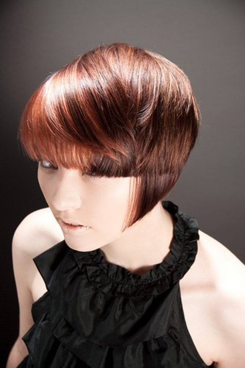 Point cutting is a chic and powerful look.
