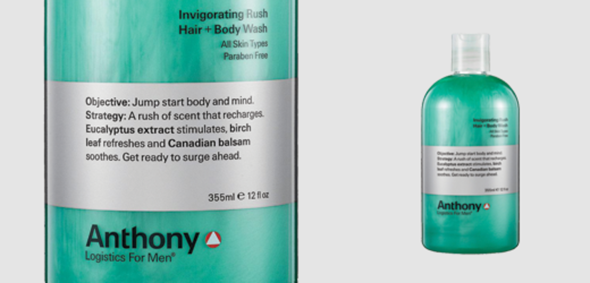 Anthony Logistics Invigorating Rush Body Wash