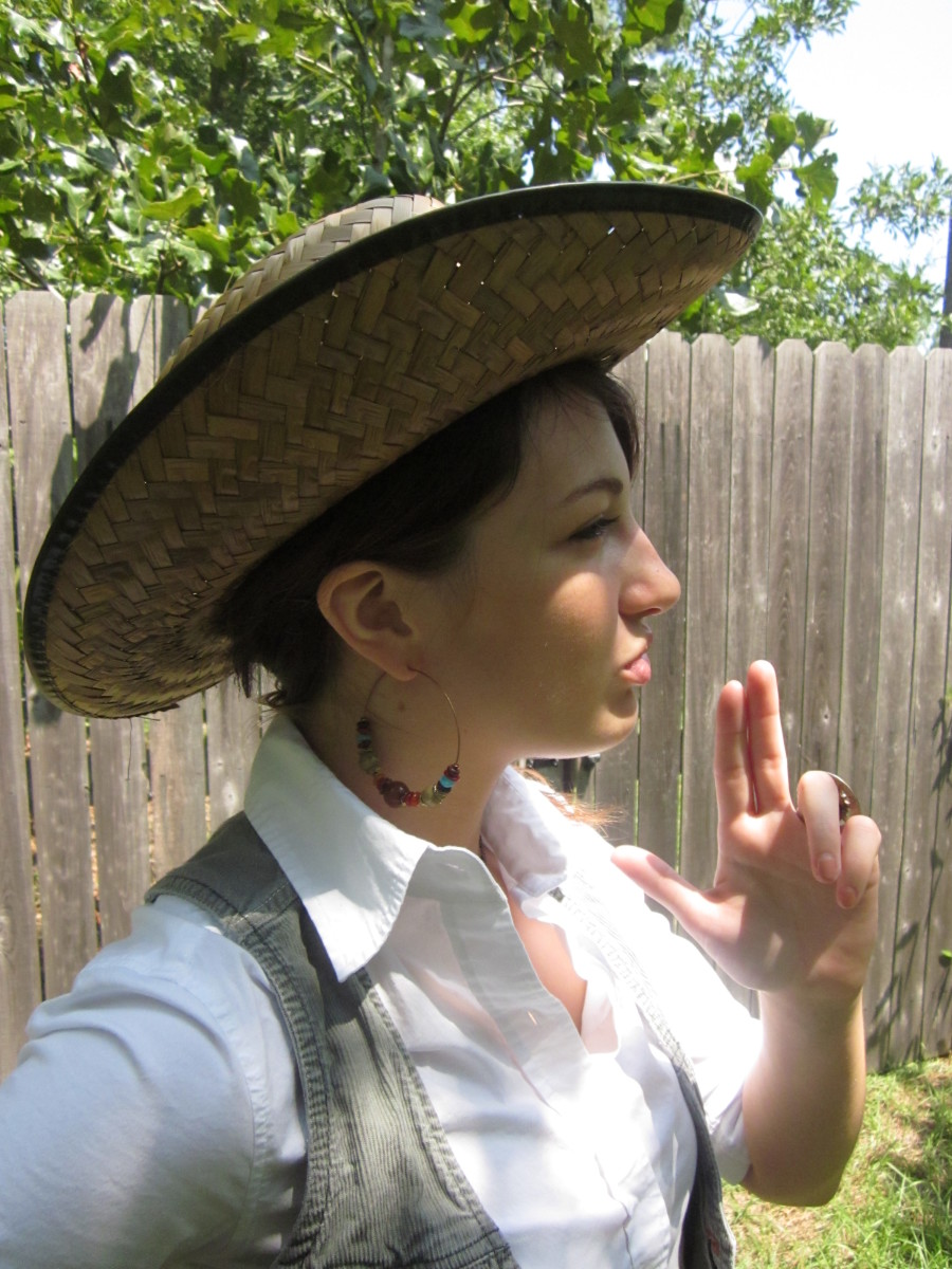 Wear a hat in the sun! While you're at it, dress like a cowboy!