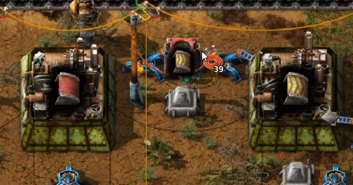 The setup: one inserter on each side of the box facing left.