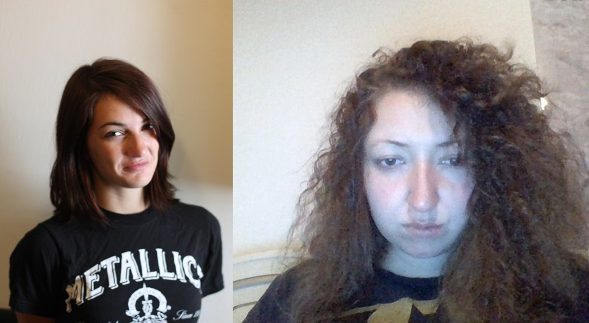 Me and Brittany within one week of starting.