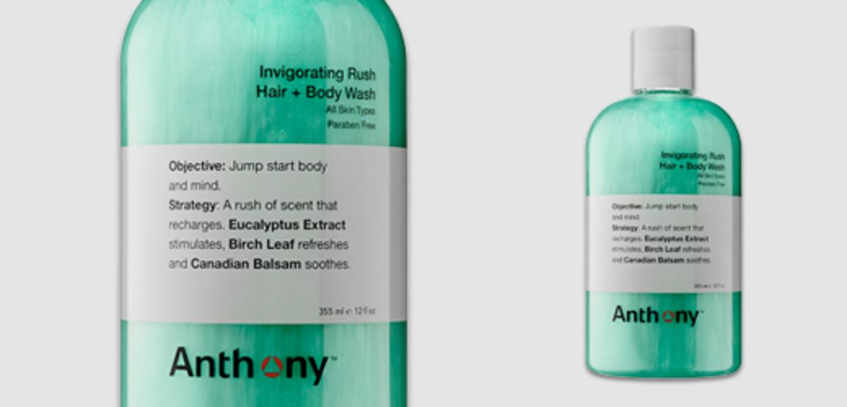 Anthony Logistics Invigorating Rush Hair & Body Wash