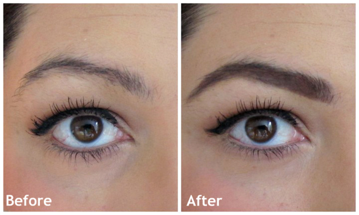 Amazing: Before and after eyebrow pencil application