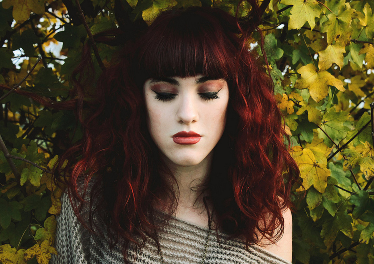 Wavy red hair is truly breathtaking.