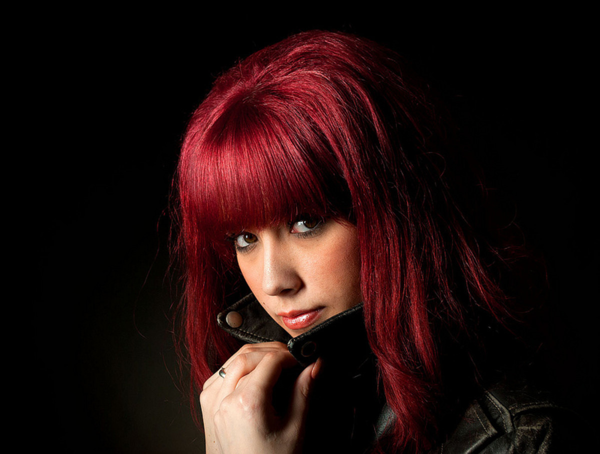 Red hair can cause your eyes to stand out even more.