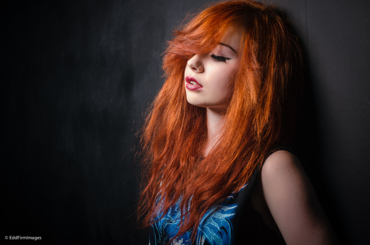 Bright copper hair