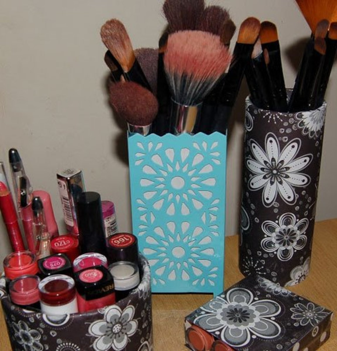 Restyled Containers | DIY Makeup Organization Ideas