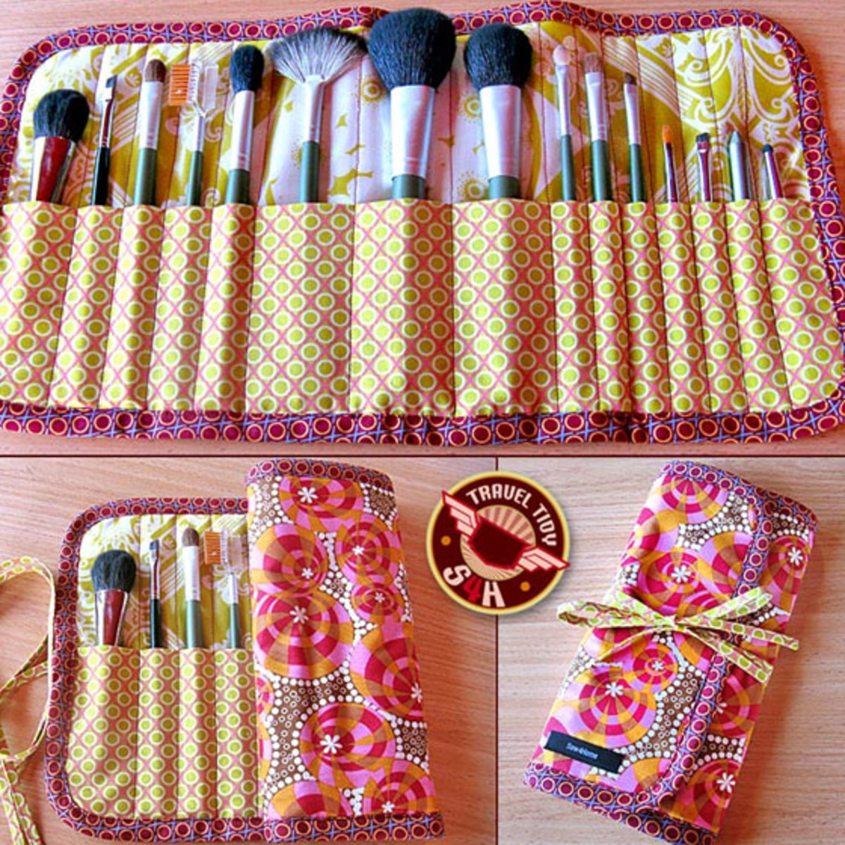 Roll-up Makeup Brush Case | DIY Makeup Organization Ideas