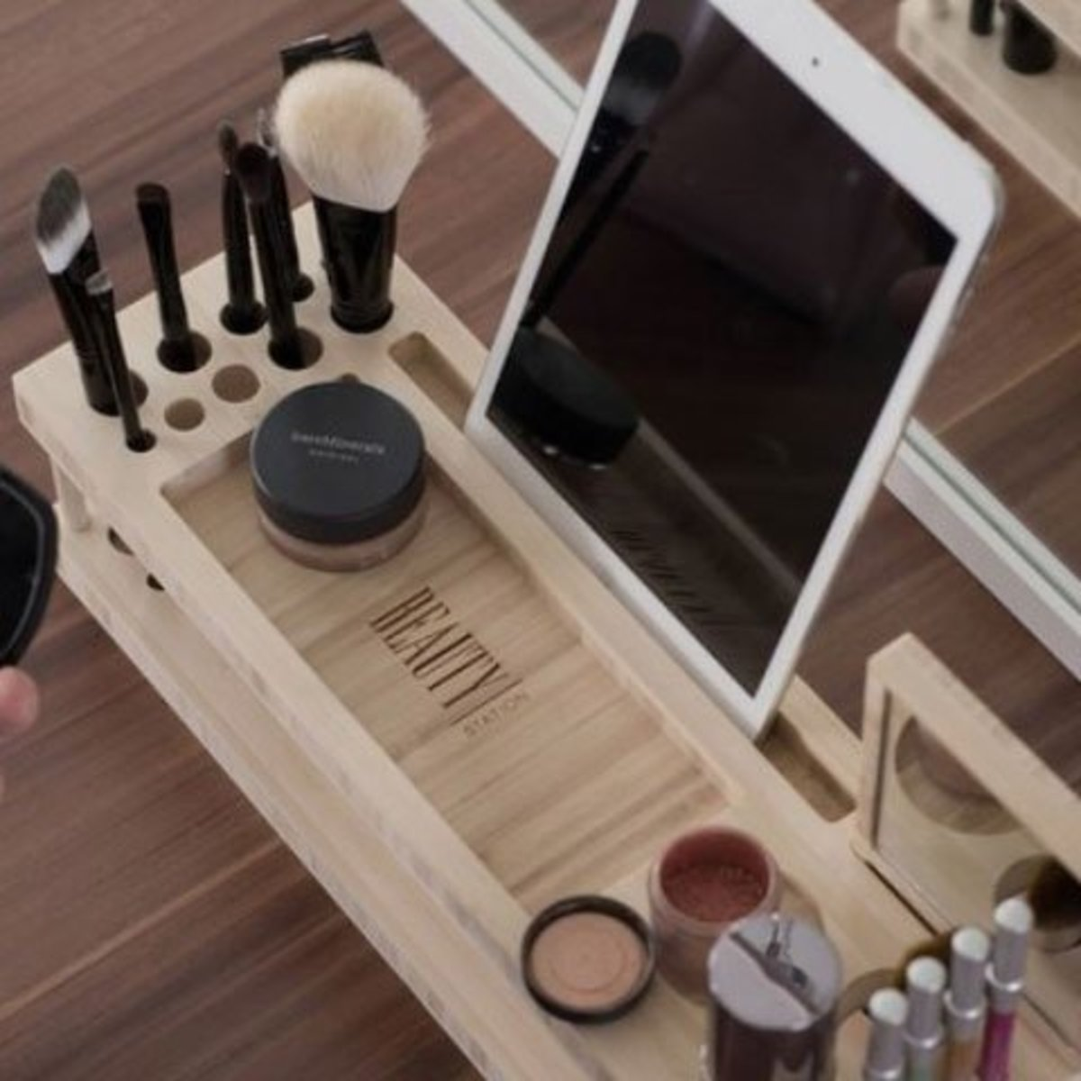 Beauty Station | DIY Makeup Organization Ideas