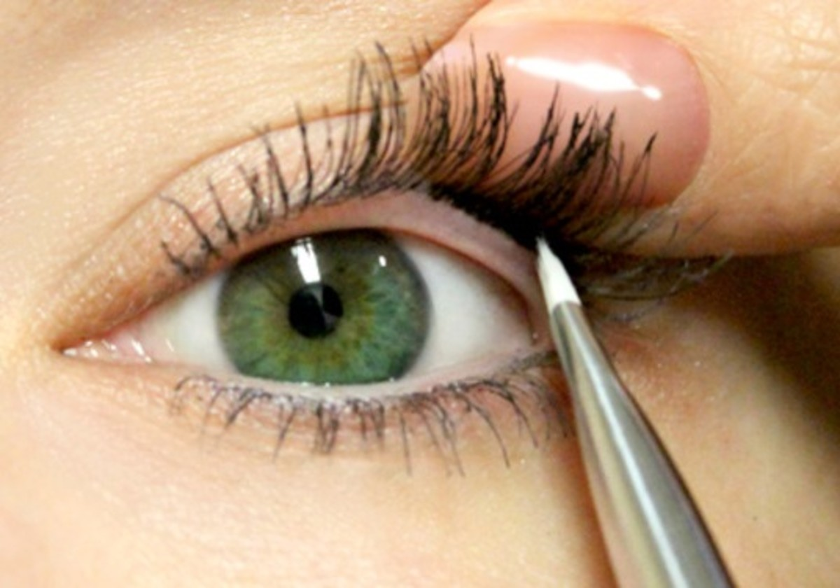 Line your inner eyelid rims with a waterproof eye liner pencil or a gel eye liner and brush.
