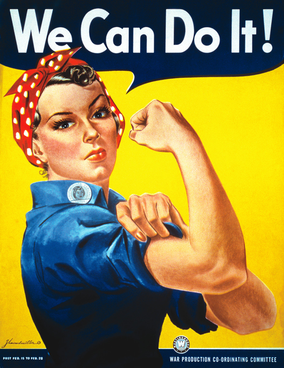 "J. Howard Miller's ""We Can Do It!"" poster from 1943."