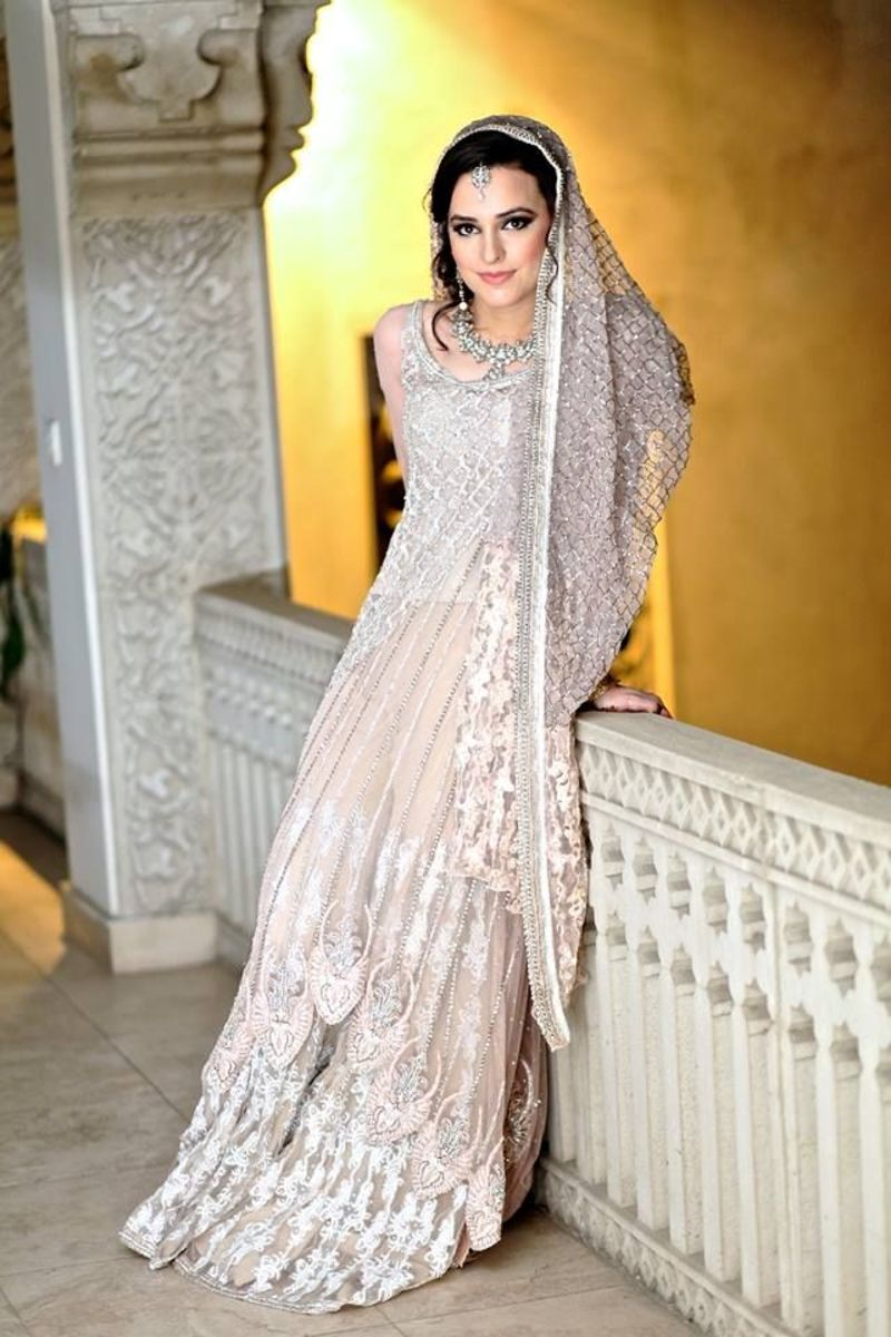 Sharara in pale peach tones.