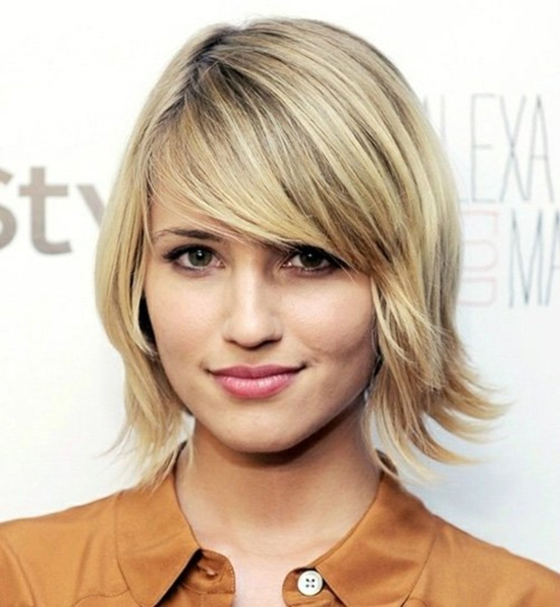 This shaggy bob cut is short, but not too short.
