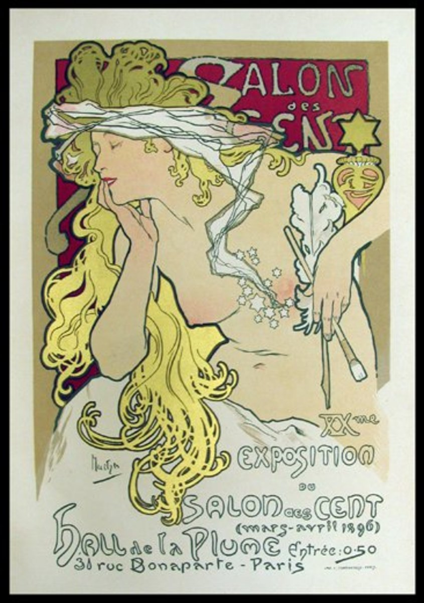 Mucha Poster in the Art Nouveau Style