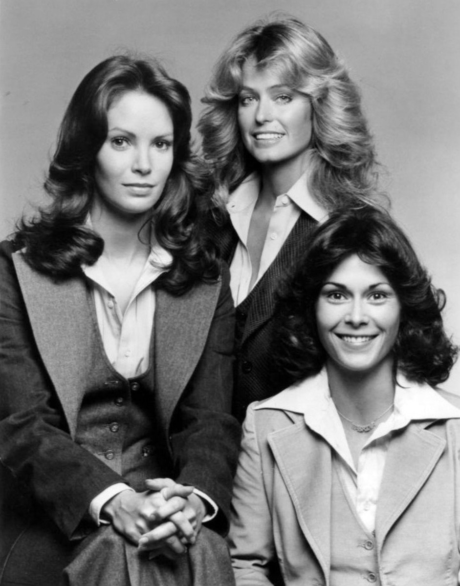 Charlies' Angels in menswear suits