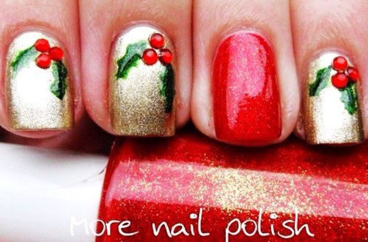 Christmas Design For Short Nails : Awesome christmas nail designs hubpages