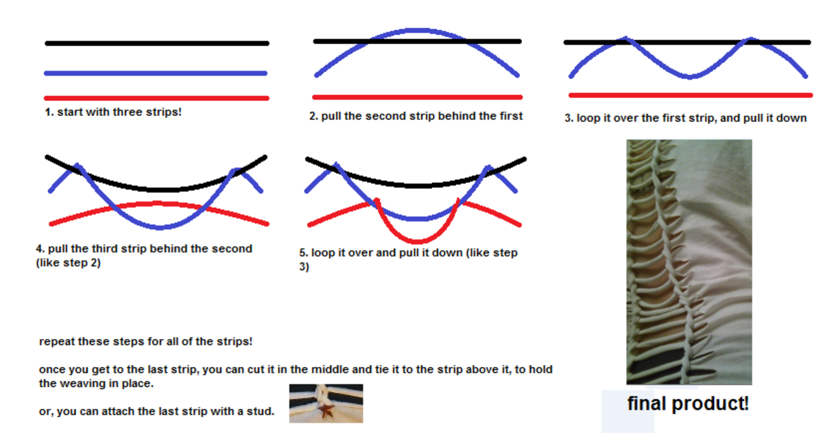 How to do a ladder weave.