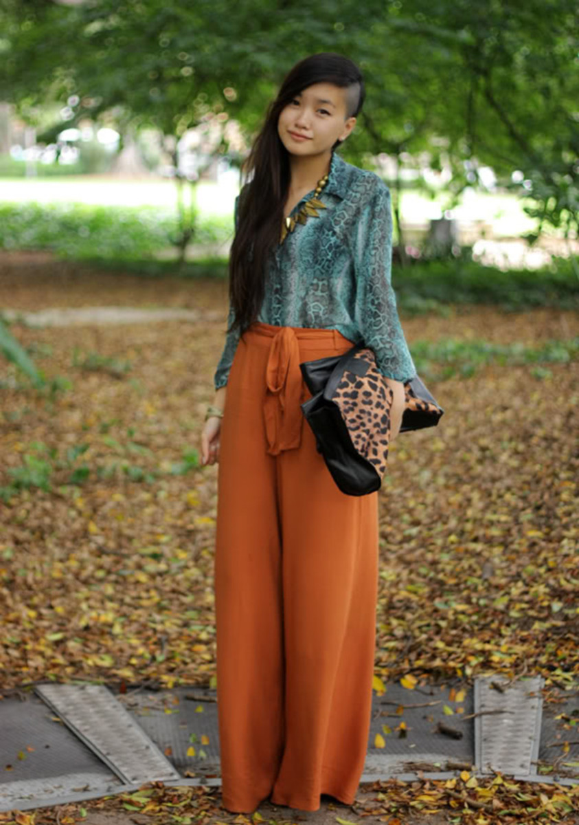 Spice Orange Jogger Pants--an un-cropped style.