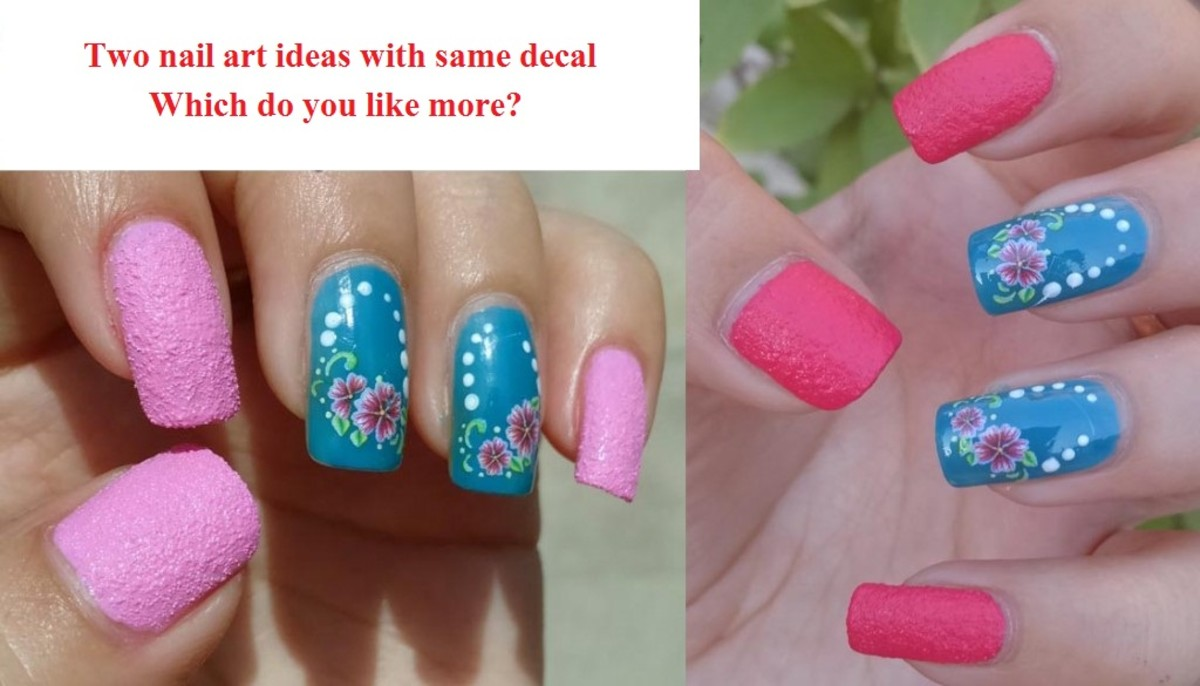 Flower water slide decal in 2 different looks!!