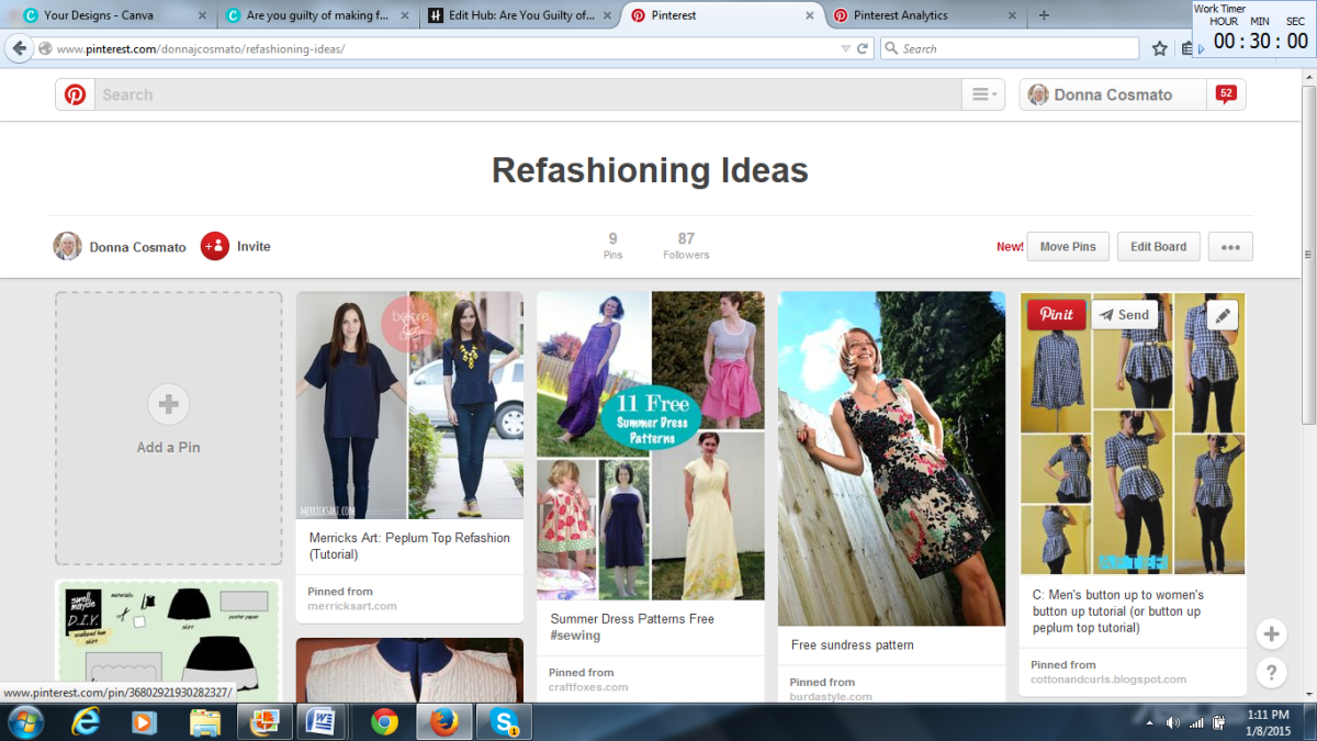 Pinterest is a good site for finding ways to refashion your clothing.